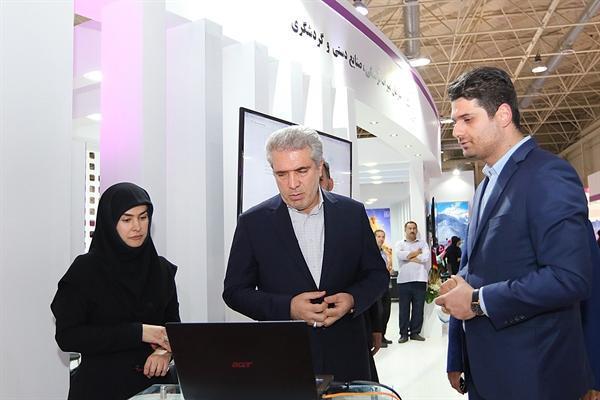 بازدید رئیس سازمان میراث فرهنگی از نمایشگاه الکامپ، رونمایی از داشبورد مدیریت اطلاعات توسط مونسان